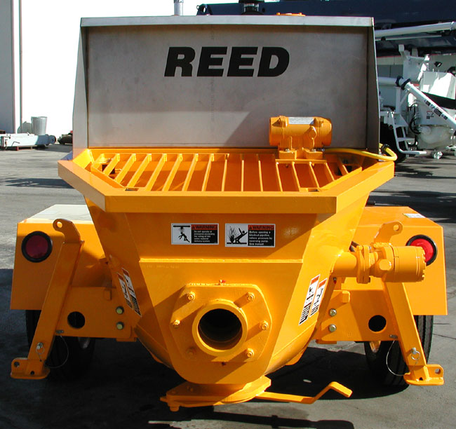 REED Concrete Pump Featuring Low Hopper Height