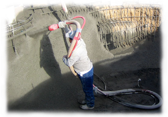 Gunite Dry-Mix Shotcrete Spraying