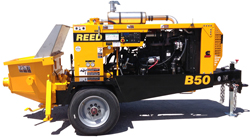 REED Trailer Mounted Concrete Pumps