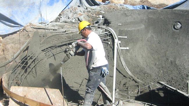 Reed concrete pumps shotcrete pumps and guncrete gunite - Swimming pool construction jobs dubai ...