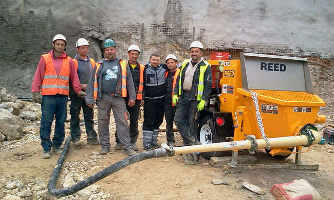 REED A40HP Shotcrete Pump Shotcrete Shoring