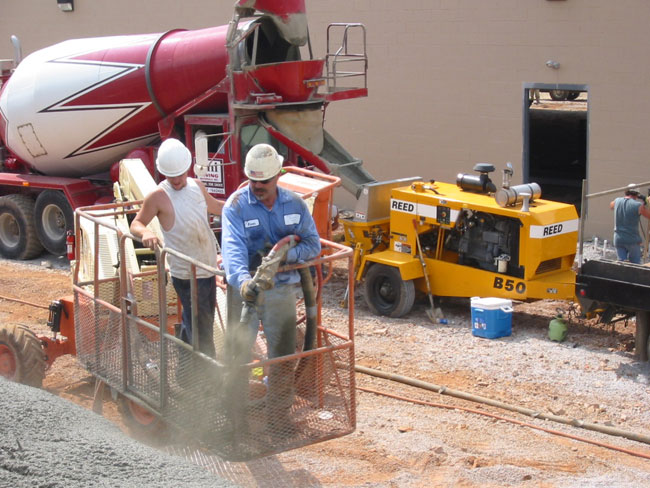 Shotcrete with REED C Series Pump