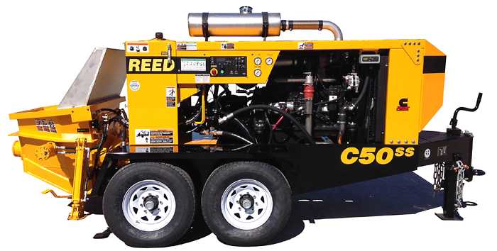 REED Concrete Pumps Shotcrete Pumps and Guncrete Gunite Machines