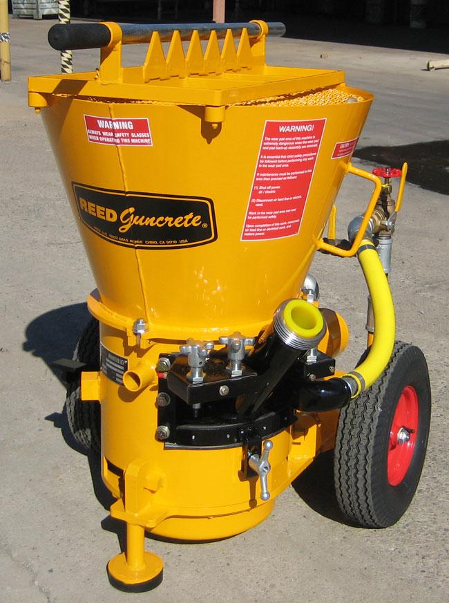 REED Concrete Pumps Shotcrete Pumps and Guncrete Gunite Machines.