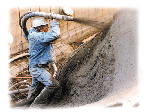 Shotcrete Means Spraying Concrete