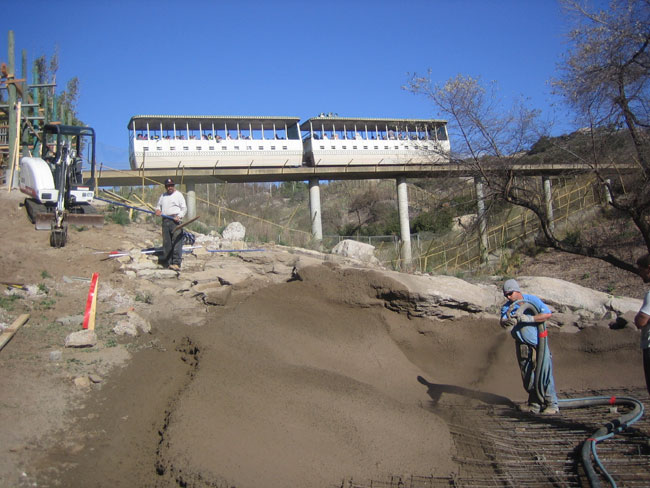 Shotcrete Zoo Jobsite Photos