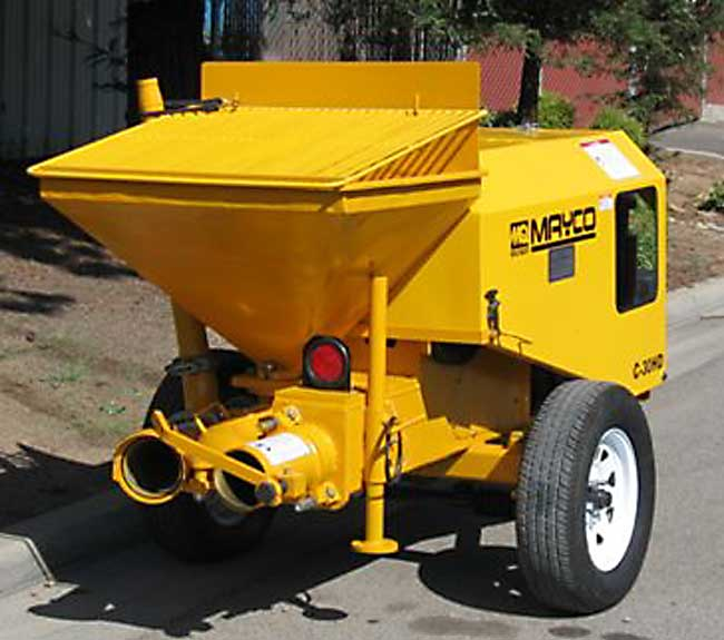used Mayco concrete pump